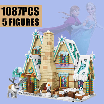 New 1087CPS Elsa Princess ICE Castle Toys Anna Olaf City Fit Friends Ideas Building Blocks Bricks Christmas Girl Gift SY6580 new sluban building bricks 815pcs blocks princess cinderella sapphire castle compatible friends education diy kit gift toys girl