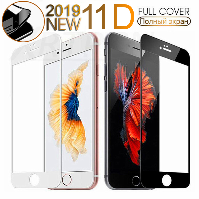11D Curved Edge Tempered Glass on the For <font><b>iPhone</b></font> 7 8 <font><b>6</b></font> 6S Plus Screen Protector For <font><b>iPhone</b></font> 11 Pro X XS Max XR Protective Glass image