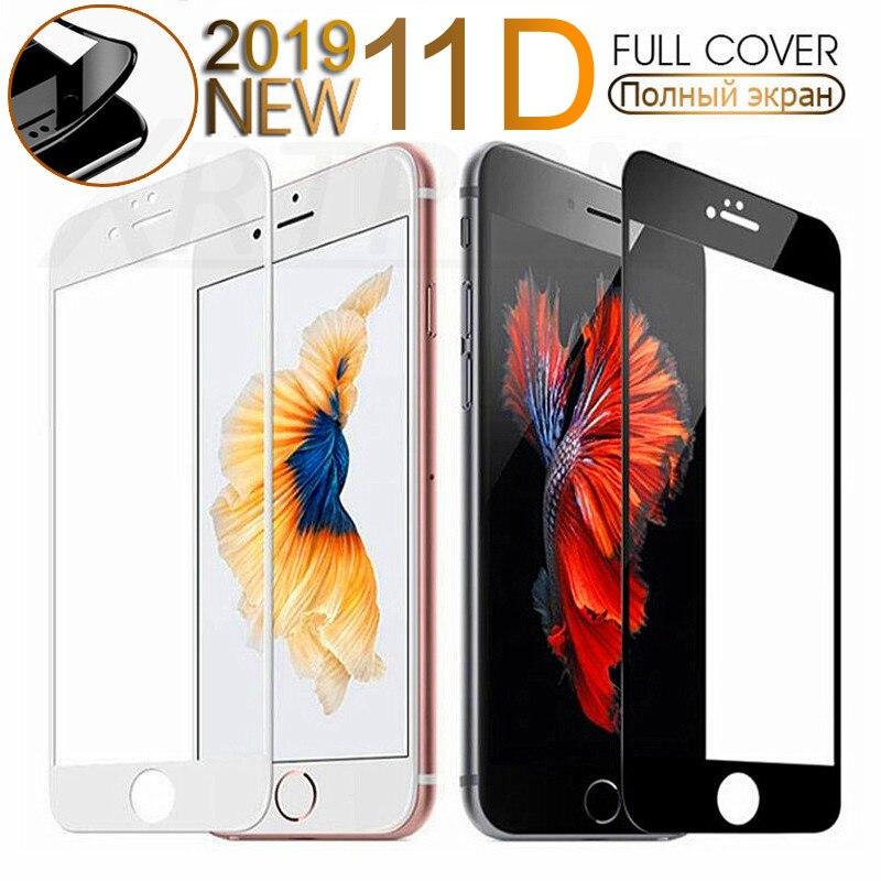 Закаленное стекло с изогнутыми краями 11D для iPhone 7 8 6 6S Plus, Защитное стекло для iPhone 11 Pro X XS Max XR|Защитные стёкла и плёнки|   - AliExpress