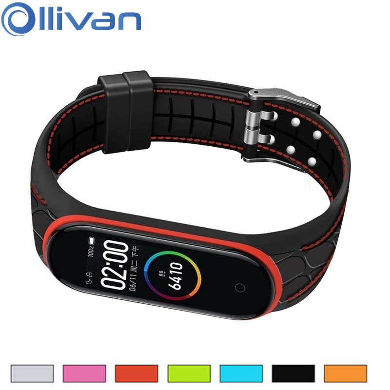 2020 Newest Mi Band 4 Wrist Strap For Xiaomi Mi Band 4 Bracelet Silicon Soft TPU Miband 4 Accessories Metal Buckle Wristband