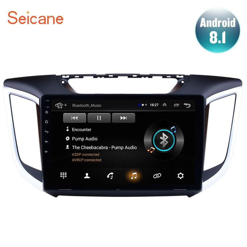 Seicane 2DIN 10 1 Android 8 1 for 2014 2015 Hyundai IX25 CRETA Car Radio GPS