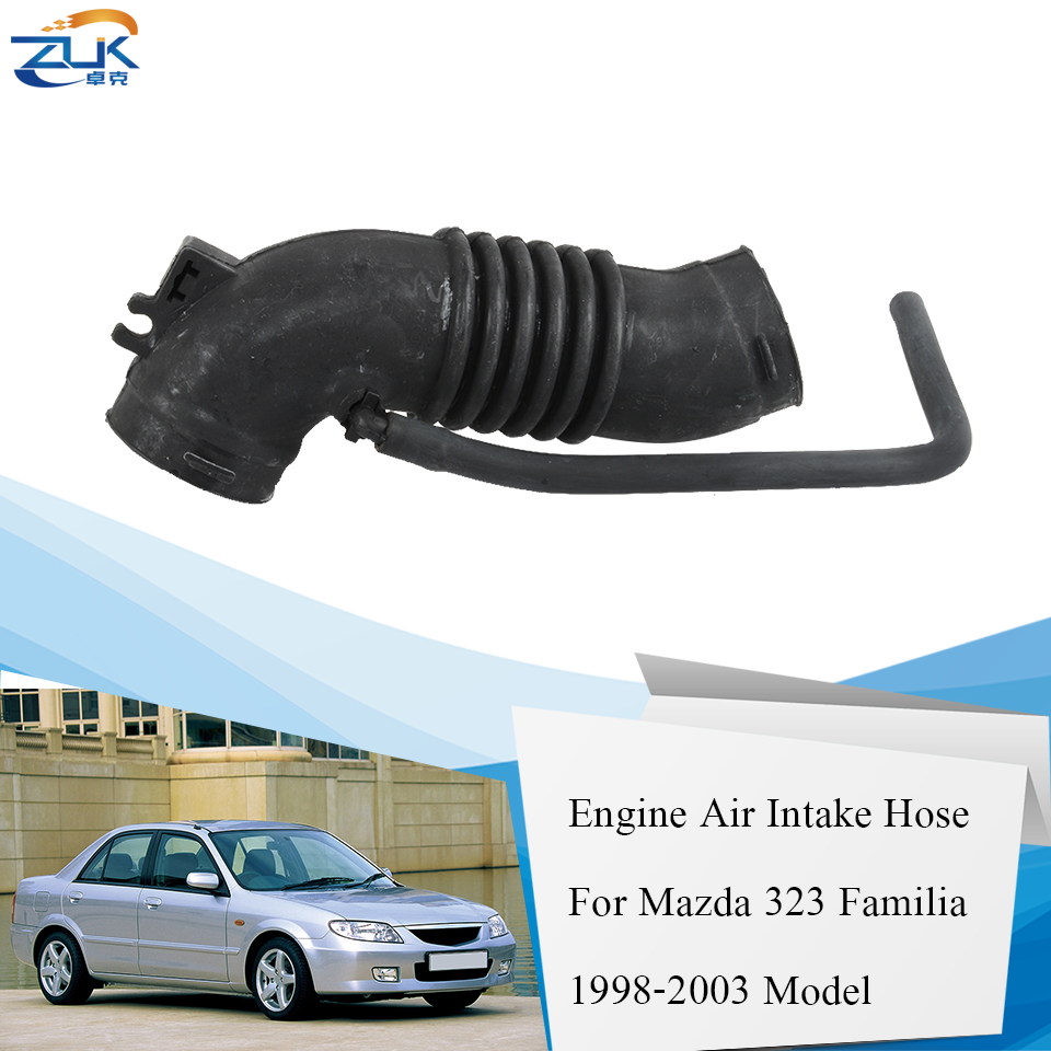 ZUK Car Engine Air Cleanner Air Intake Hose Air Flow Tube For Mazda 323 Familia Protege 1.5L 1.6L 1998 1999 2000 2001 2002 2003