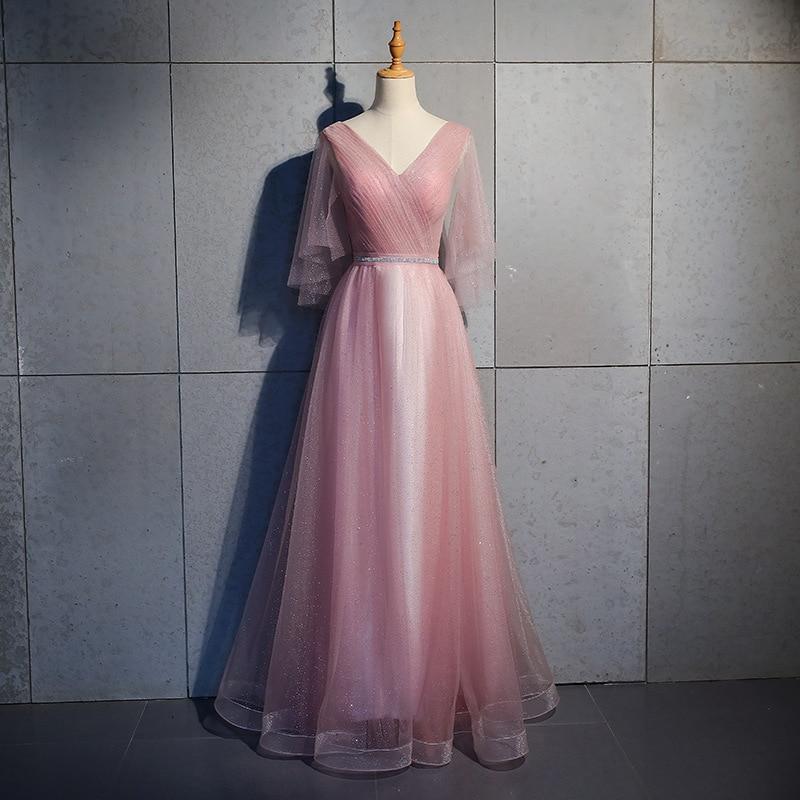 Plus Size 3XL Elegant A-line Evening Dress Bling Sequins Party Dress Sexy V-neck Prom Dress Noble Banquet Dress Mesh Dress