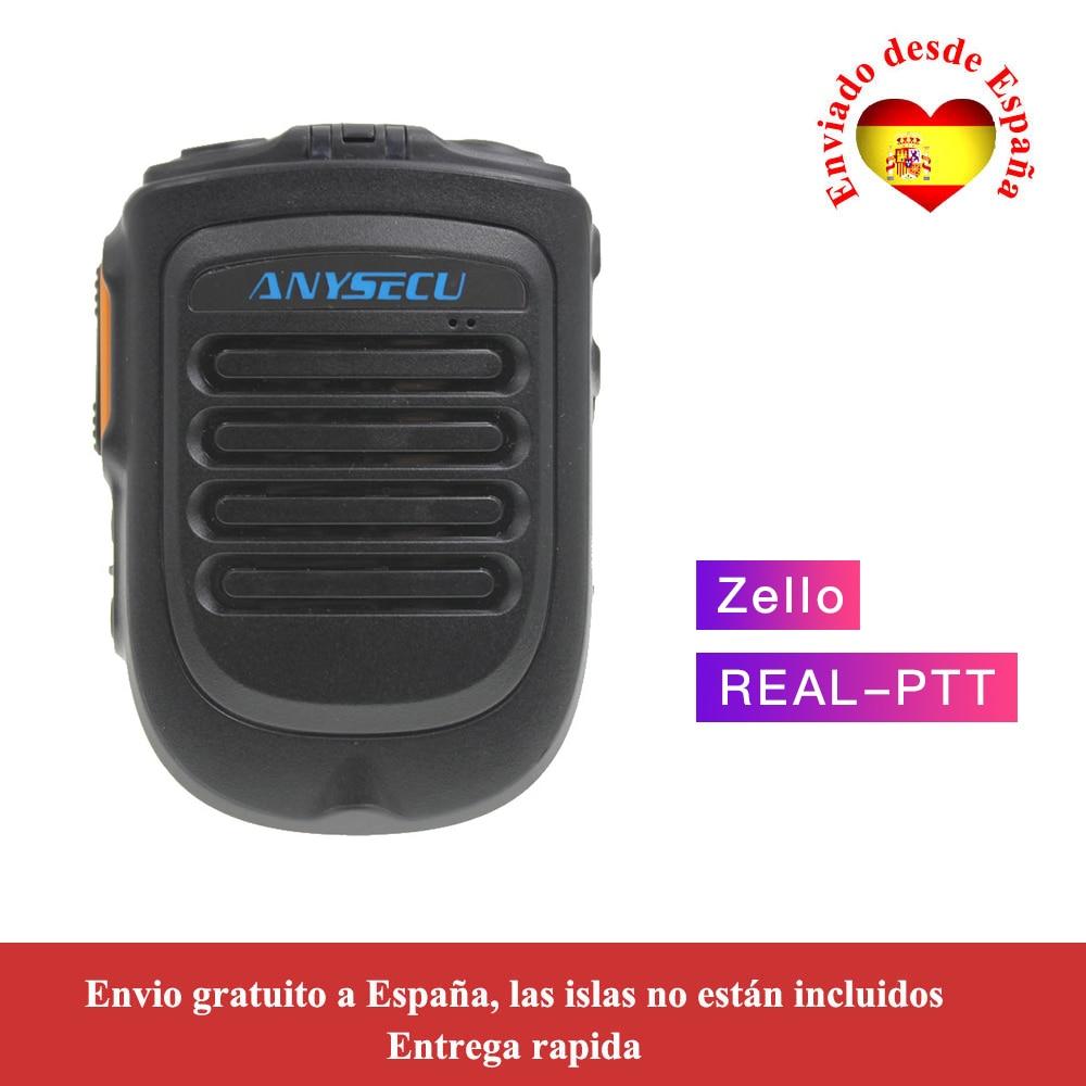 Anysecu 4 2 version Bluetooth Microphone for TM 7plus W7 W7plus 3G 4G Radio REALPTT ZELLO