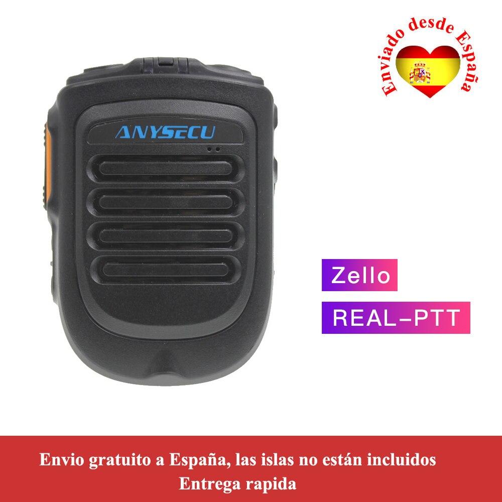 Anysecu 4.2 Version Bluetooth Microphone For TM-7plus W7 W7plus 3G/4G Radio REALPTT ZELLO Support Wireless Handheld Microphone