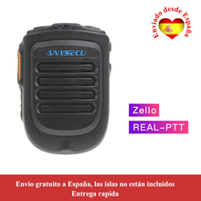 Anysecu 4.2 version wireless Microphone for F22 4G W2PLUS T320 3G/4G Radio REALPTT ZELLO support Wireless Handheld Microphone
