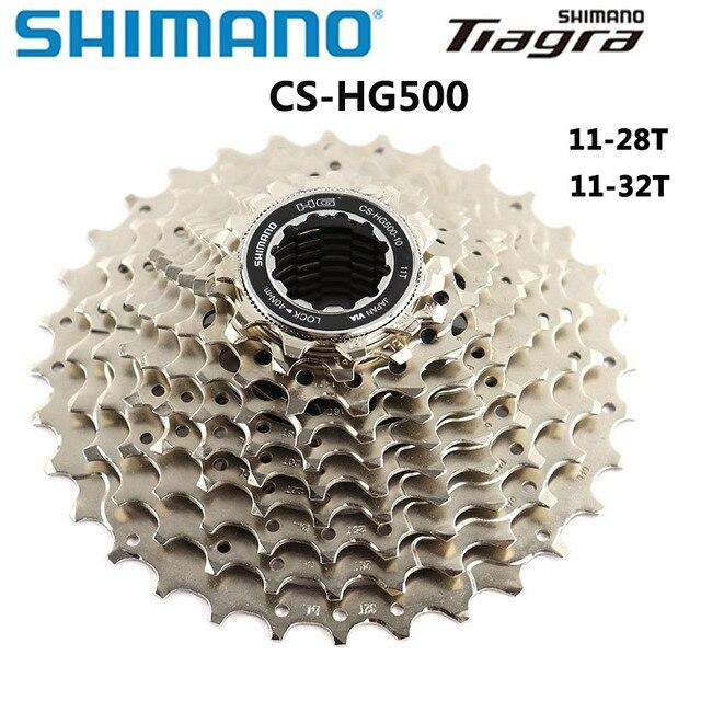 شيمانو Tiagra CS HG500 الطريق الدراجة 10 سرعة كاسيت ضرس كاسيت قوية ل 10 سرعة الطريق drivetrain