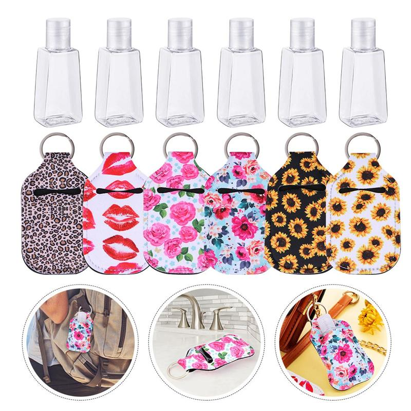 12PCS Hand Sanitizer Bottles Refillable Bottle Covers Set Perfume Storage Containers Cover For Travel Hand Sanitizer Bottle