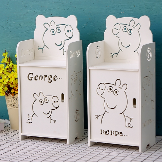 Creative Children's Bedside Table Cartoon Modern Simple Small Mini Boy Girl Bedroom Shelf Multi-layer