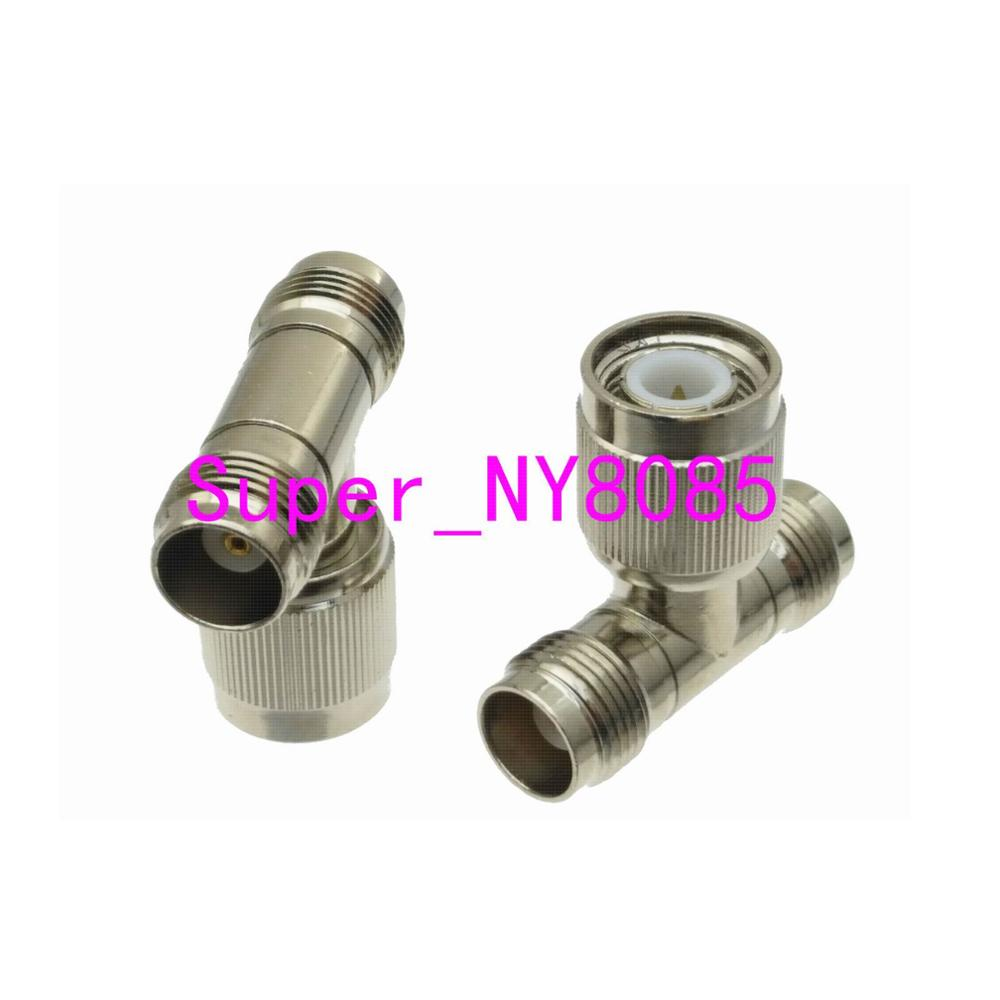 Adapter Connector TNC Male Plug Pin To 2x TNC Female Jack Pin T Splitter RF COAXIAL