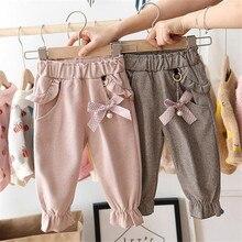 Штаны для детей возрастом от 2 до 6 лет весенние штаны для девочек-подростков хлопок, бант, горошек, милая принцесса брюки