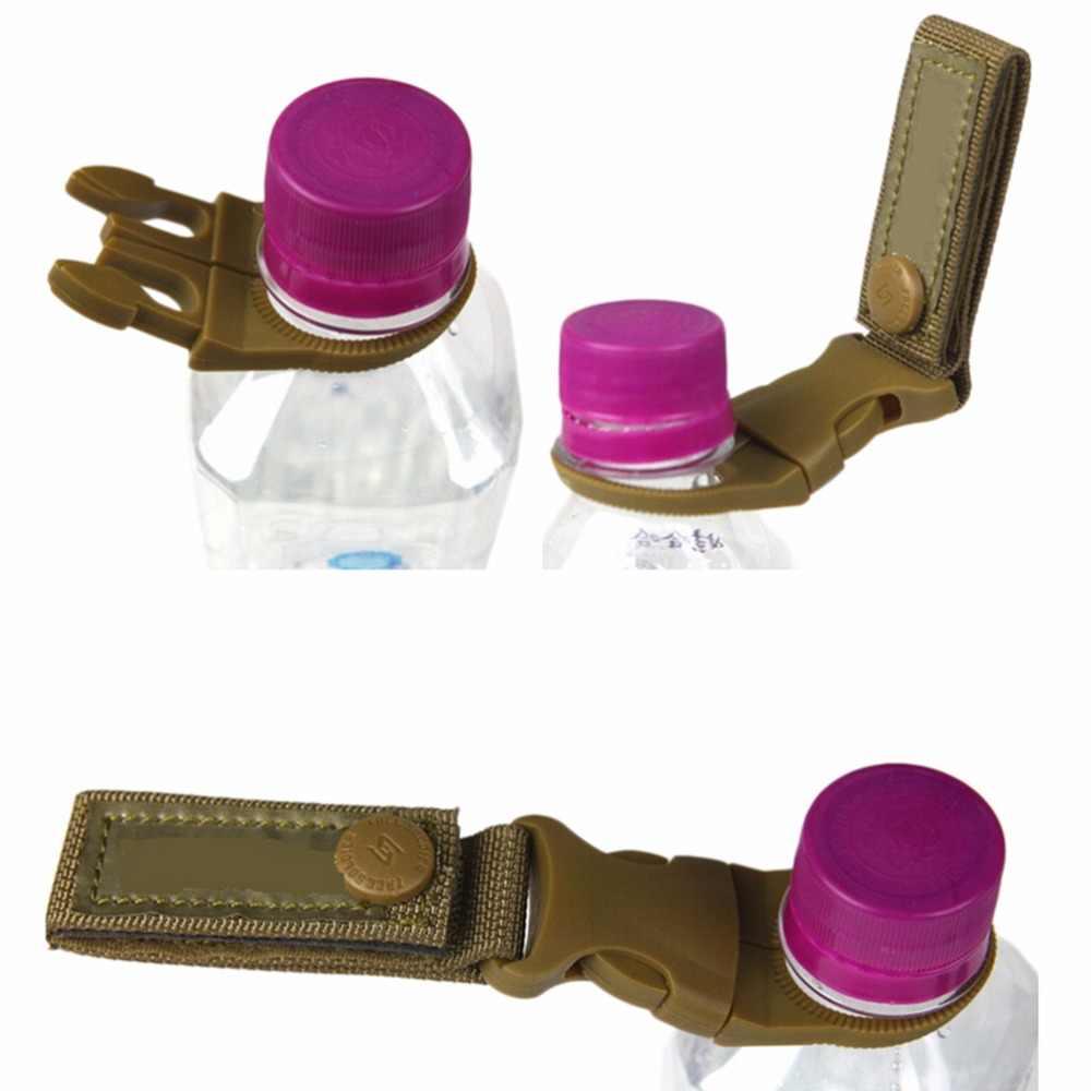 EDC Molle táctica nylon correas buckl gancho botella de agua titular clip