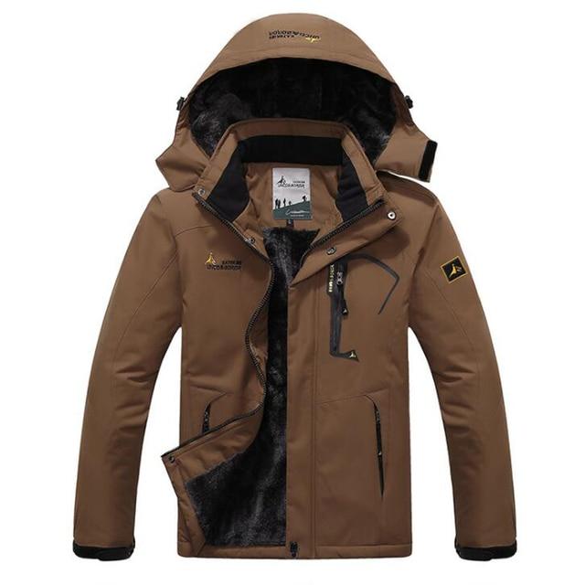 Winter Parka Men Windbreak Plus Velvet Thick Warm Windproof Fur Coats Male Military Hooded Anorak Jackets Men's Winter Jackets 6