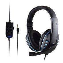 Игровая гарнитура стерео объемные наушники 3,5 мм проводной микрофон для PS4 ноутбука для Xbox one геймерские наушники