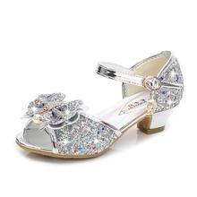 Детская кожаная обувь с цветочным узором; обувь принцессы для маленьких девочек; детская блестящая Свадебная вечеринка; Infantil Chaussure Enfant