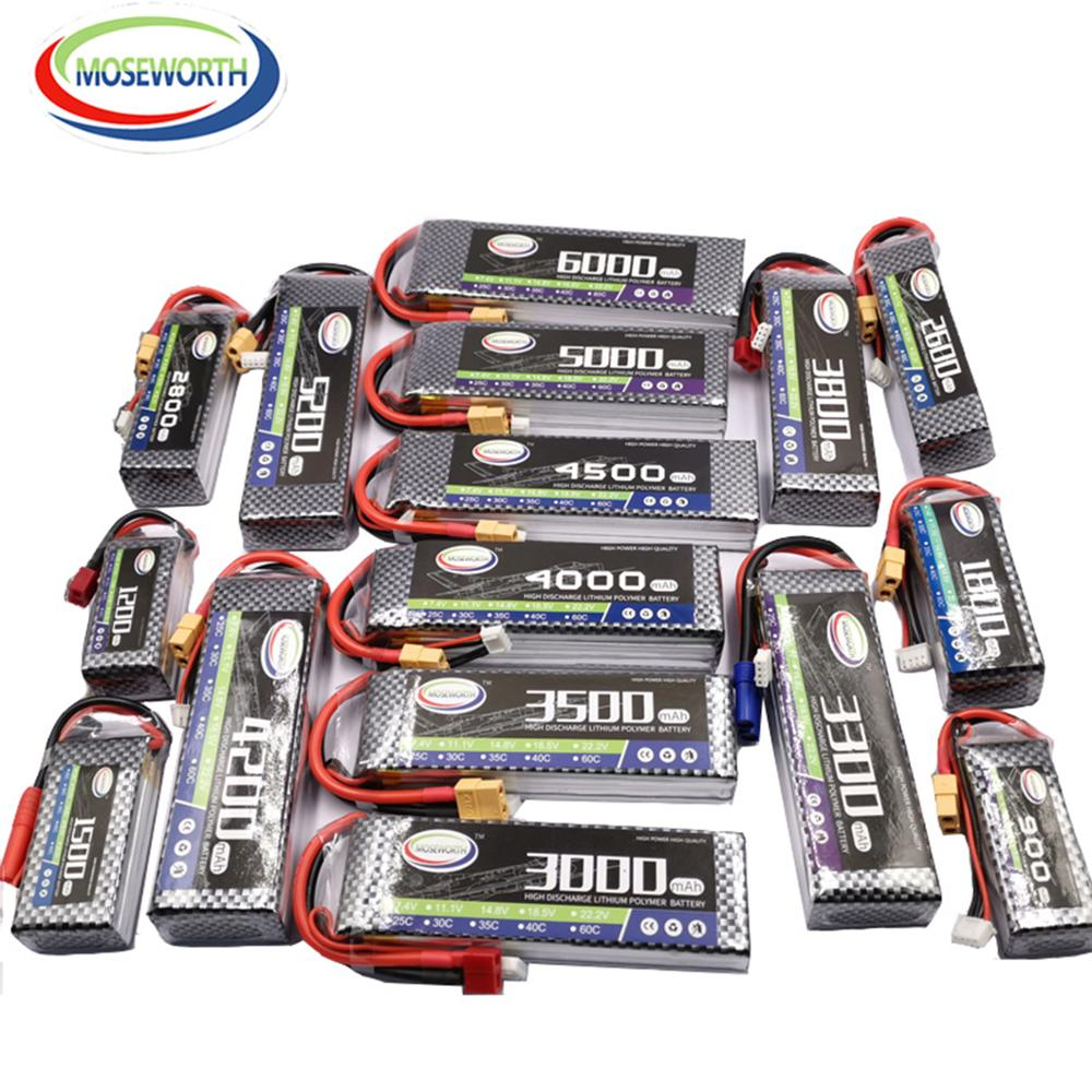 3S Batteries 11.1V 2200 2800 3300 3800 4200 5200 6000mAh 30C40C60C RC Toys LiPo Battery 3S For RC Helicopter Aircraft Quadcopter