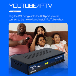 Image 4 - Vmade HD Digital DVB T2 DVB S2 Combo Satellite Terrestrial TV Tuner H.264 MPEG 2/4 Support Youtube Bisskey With USB WIFI