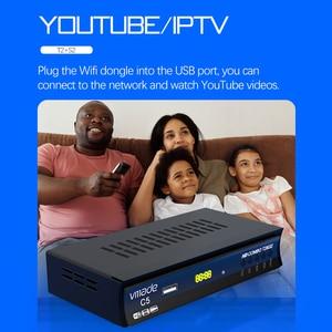 Image 4 - Vmade HD Digitale DVB T2 DVB S2 Combo Satellite Terrestre Sintonizzatore TV H.264 MPEG 2/4 Supporto Youtube Bisskey Con USB WIFI
