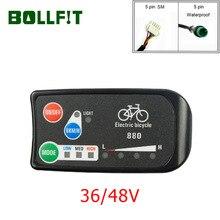 BOLLFIT E الدراجة اكسسوارات KT E الدراجة عرض LED 880 36 فولت 48 فولت ذكي لوحة التحكم عرض ل دراجة كهربائية عدة