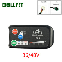 Bollfit E Fiets Accessoires Kt E Bike Display Led 880 36V 48V Intelligente Bedieningspaneel Display Voor Elektrische fiets Kit