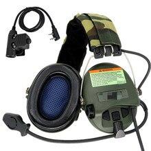 TCIHEADSET Tactical MSASORDIN Airsoft Headset Electronic Shooting Headphone Military Anti-noise Hunt Earmuffs+Tactical U94 ptt