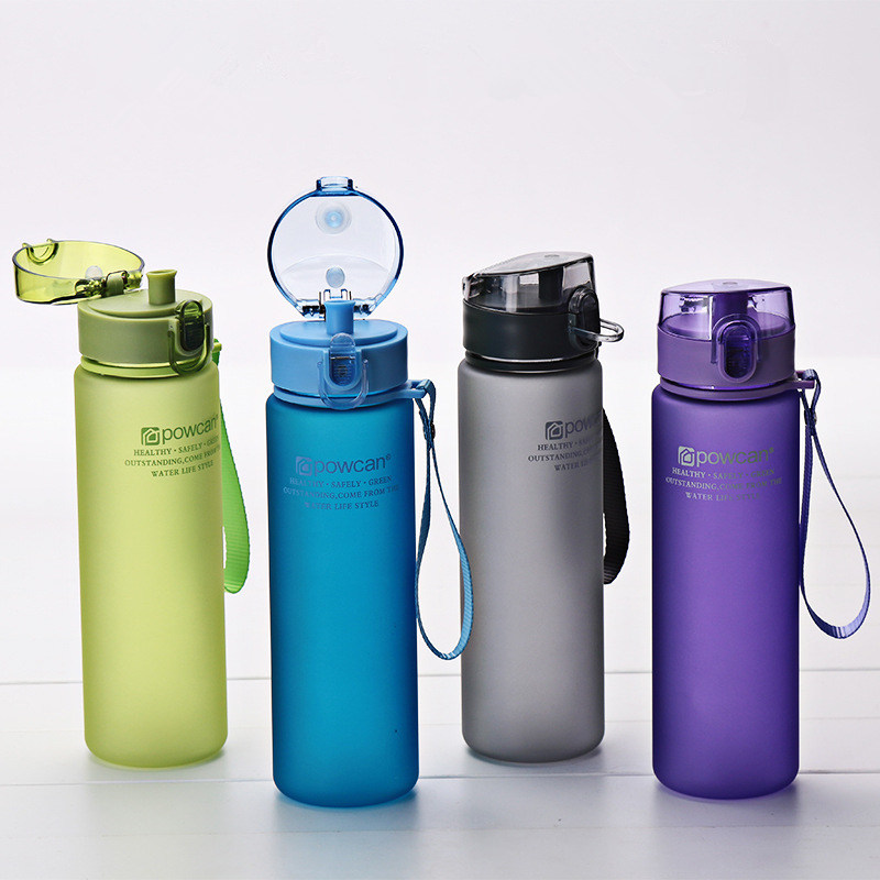 400 ml 560 ml Water Bottle Plastic <font><b>Drink</b></font> Outdoor Sport School Leak Proof Seal Gourde Climbing Shaker Bottles Water Bottles Gifts image