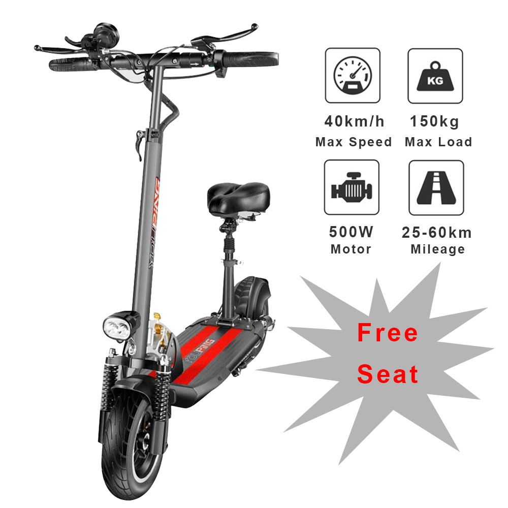 [EU] YOUPin Q02 складной электрический скутер 500 Вт Мотор 48В 18Ah 40 км/ч e скутер 10 дюймов шин escooter 150 кг нагрузки для взрослых