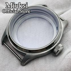 Miuksi 47mm silver brushed stainless steel case fit ETA 6497 6498 Seagull ST3600/ST3620 hand winding movement
