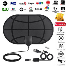 380 Miles 4K Digital hd Antenna TV  Antennas Indoor satellite dish Signal receiver Amplifier Booster clear Radius DVB-T2 Aerial