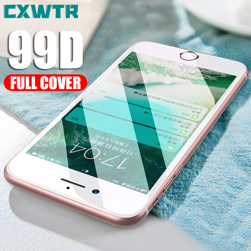 99D Tempered Glass on the For iPhone X 7 8 6 Plus Screen Protector Full Cover Protective Glass For iPhone XR XS Max 11 Pro film image