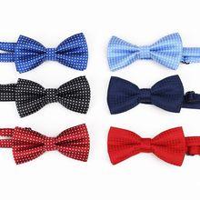 Детская одежда с галстуком-бабочкой для маленьких мальчиков, аксессуары, Однотонная рубашка джентльмена, Бабочка, в горошек, для малышей, регулируемый галстук-бабочка