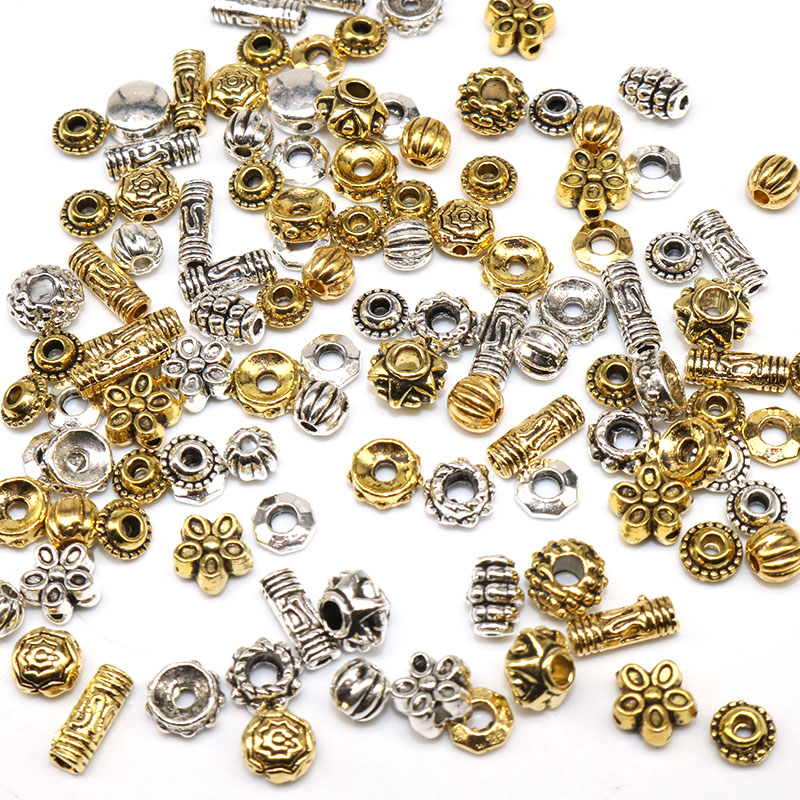 30Pcs Retro Style Bronze Tone Alloy Metal Loose Spacer Beads 9x7mm DIY