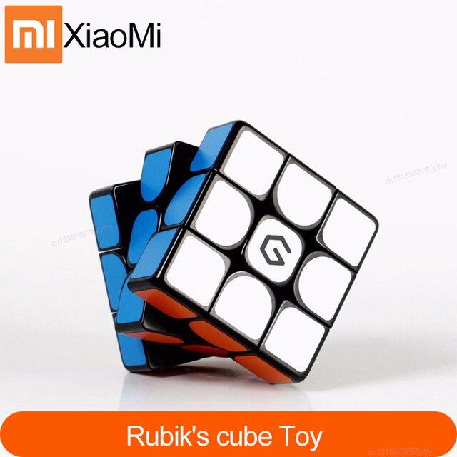 Original Xiaomi Mijia Giiker M3 Magnetic Cube 3x3x3 Vivid สีสแควร์เมจิก Cube ปริศนาวิทยาศาสตร์การศึกษาทำงานร่วมกับ giiker APP