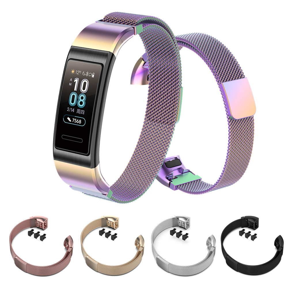 Metal Steel Band Wrist Strap For Huawei Band 4 Pro Smart Bracelet Milanese Watch Strap For Huawei Band 3 Pro Wristband Accessory