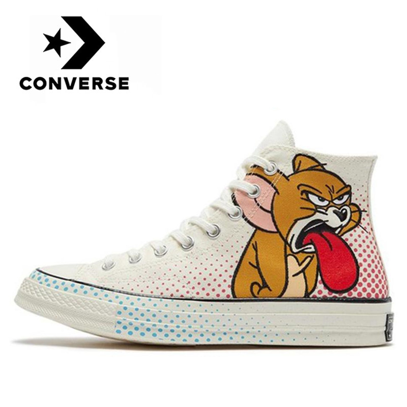 Casarse Cliente Desobediencia  Original Converse Chuck Taylor All Star 1970s Tom Jerry men and women  Neutral high Sneakers fashion cartoon leisure Canvas Shoes|Skateboarding| -  AliExpress