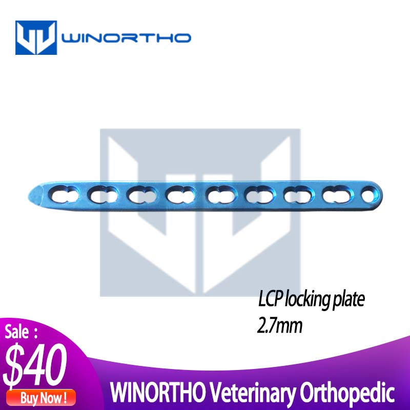 2.7mm LCP Titanium Locking Plates Only For Veterinary Use Animal Orthopedic VET Pet Clinic Cortical Synthes AO Implants