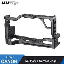 Gaiola de metal para câmera canon m6, mark ii, dslr, gaiola de montagem com punho integrado/frio equipamento de vlogs para montagem de sapatos