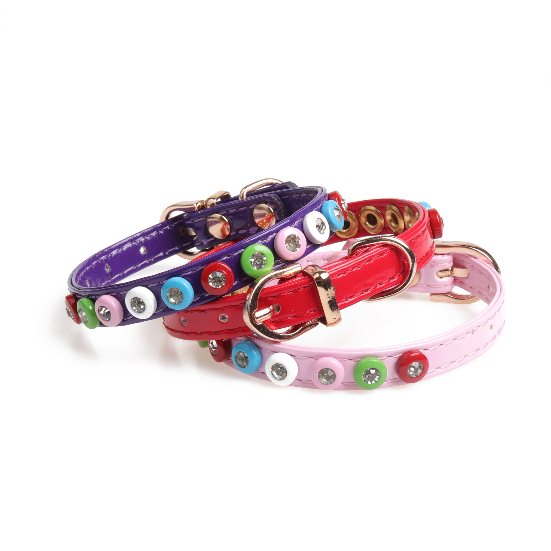 Amin Lattice Inlaid Diamond Pet Collar High Adorable Candy-Colored Dog Cat Neck Ring Manufacturers Direct Selling Customizable T