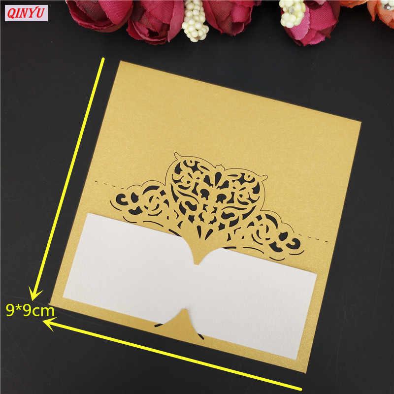 Cartão de mesa de casamento 10/100 peças, corte a laser de papel da tabela do casamento forma de coração cartão do nome do casamento cartão de assento para decoração de festa