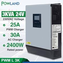 3kva Biến Tần Năng Lượng Mặt Trời 24V 220V Hybrid Inverter Nguyên Chất Sóng Sin Tích 50A PWM Điều Hòa Năng Lượng Mặt Trời pin Sạc Inversor