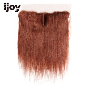 """Image 4 - Human Hair With 4x13 Lace Frontal #1B/4/27/30/33/99J/Burgundy 8"""" 20"""" M Non Remy Straight Closure Brazilian Hair Extension IJOY"""