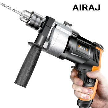 AIRAJ 710W Electric Hammer Impact Drill Household Electric Screwdriver Tool 220V Adjustable Electric Repair Tool with Components