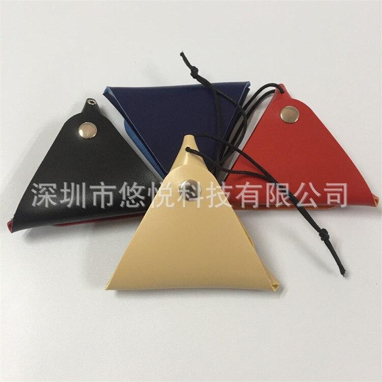 Fidget Spinner Bag PU Leather Purse Handmade Triangular Coin Bag