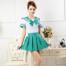 Японская школьная форма, аниме COS, костюм моряка, топы+ галстук+ юбка, JK, Морской стиль, одежда для студентов, для девочек, костюмы для болельщиц