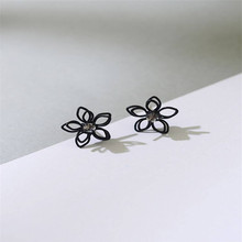 925 sterling silver earrings Lovely sweet flowers Womens fashion jewelry wholesale