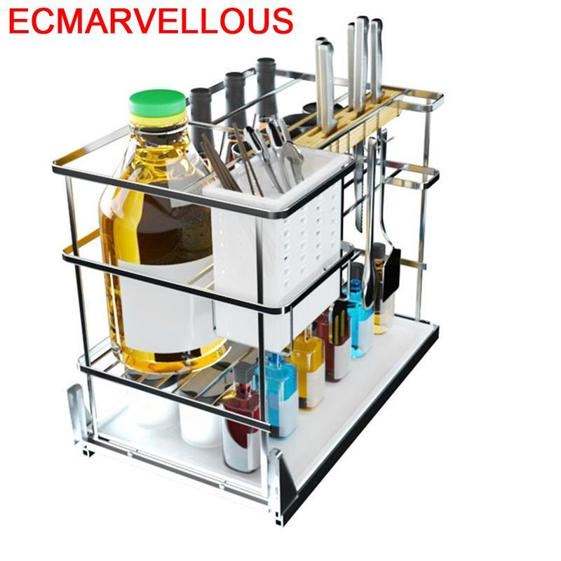 Permalink to Despensa Gabinete And Mutfak Malzemeleri Pantry Stainless Steel Cocina Cuisine Organizer Kitchen Cabinet Storage Basket