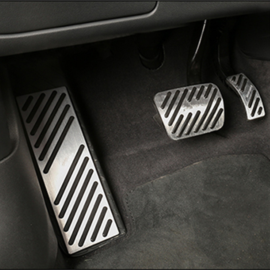 NON SLIP CAR FOOTREST GAS FUEL BRAKE PEDALS FOOT REST PEDAL PAD COVER FOR AUDI A4L A5 A6L A7 A8L Q5 Q7 2010 2018 in Pedals from Automobiles Motorcycles