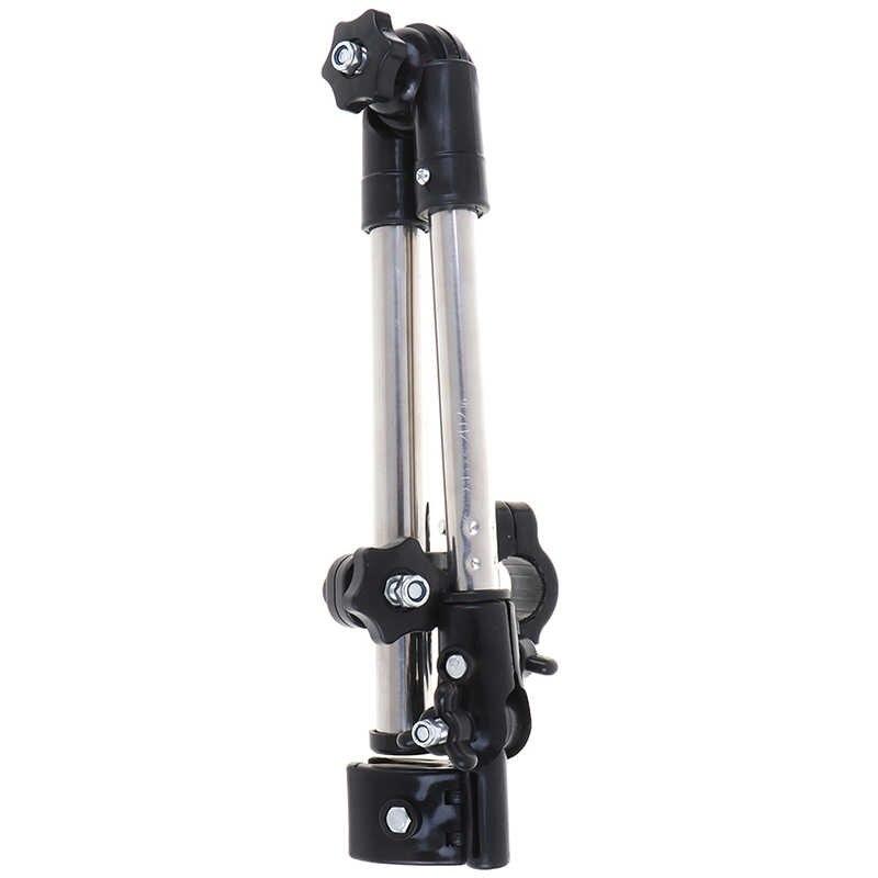 Stojaki na parasole ze stali nierdzewnej dowolny kąt obrotowy wózek inwalidzki parasol rowerowy złącze wózek stojak na parasole sprzęt przeciwdeszczowy narzędzie