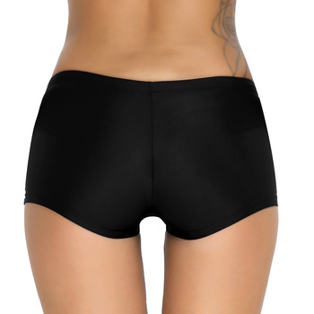 iiniim Female Women Boyleg Shorts Summer Beach Wear slim cut Bikini Bottoms Boardshorts breathable Swimsuit Swimwear 4