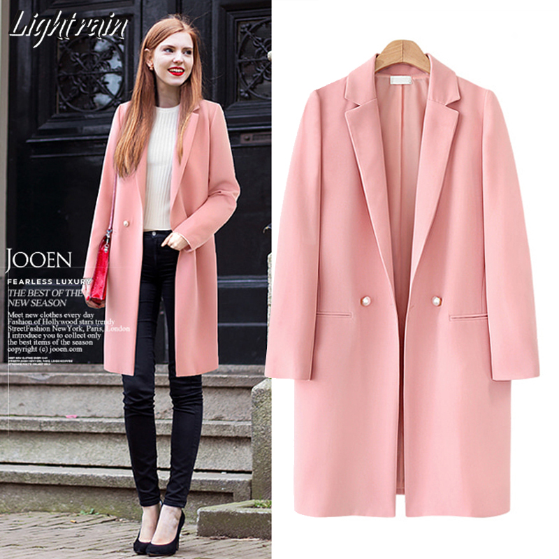 2019 New Spring Autumn Women Slim Casual Long Thin Long Blazer Jacket Coats  Fashion Cardigans